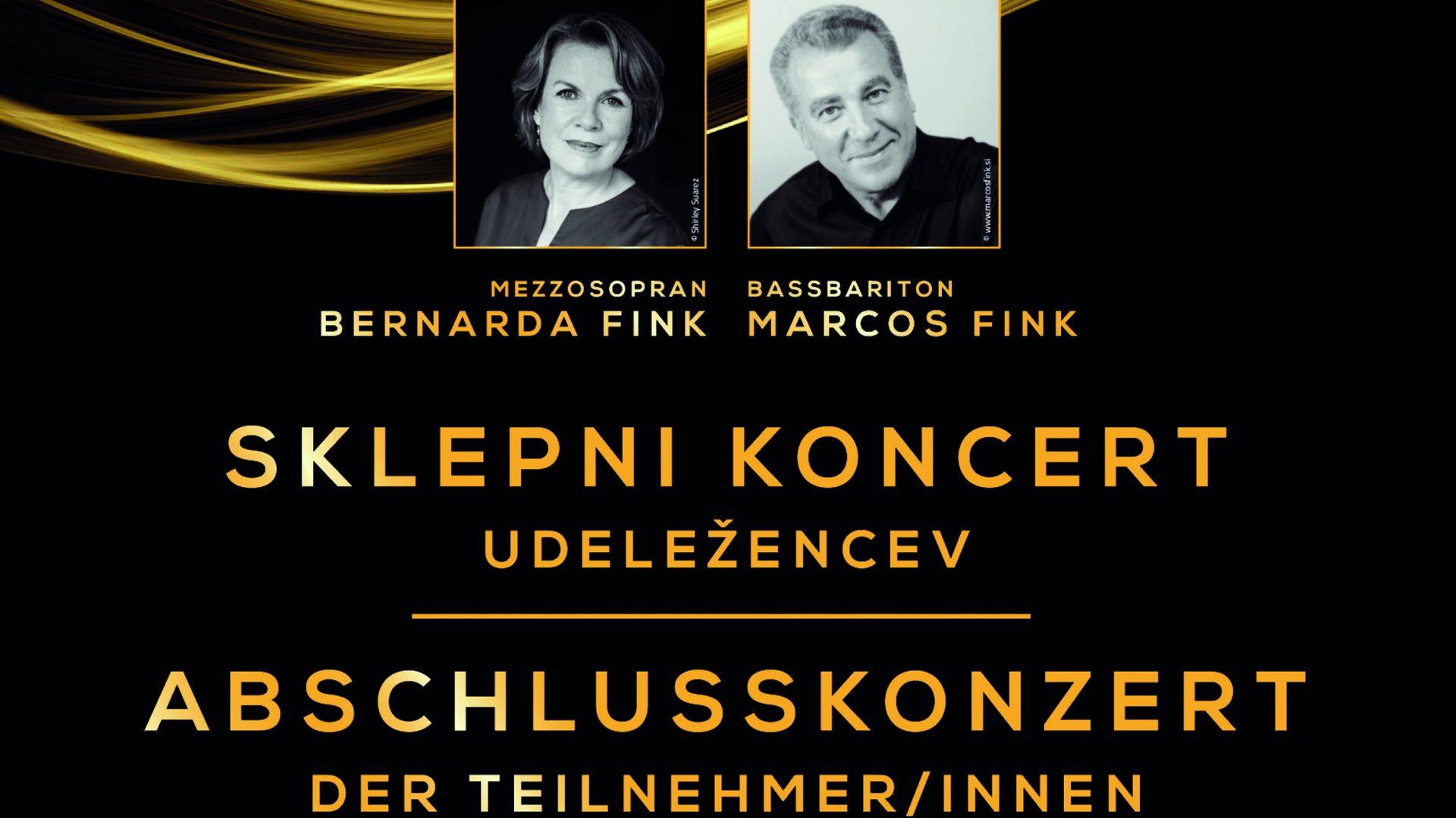 Mojstrski tečaj petja / Meisterklasse Gesang - Abschlusskonzert / Sklepni koncert