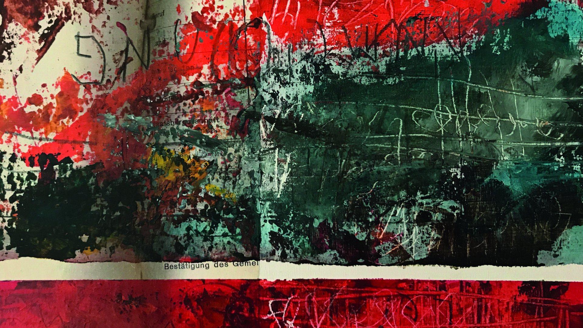 Acrylmalerei-Collagen/Slikanje: akril